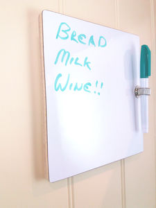 Whiteboard / Kitchen Message Board A5 Or A4 Size