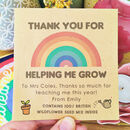 Personalised Wildflower Teacher Thank You Packet