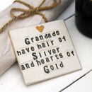 Grandad Heart Of Gold Ceramic Coaster