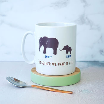 Personalised Daddy And Me Elephant Mug
