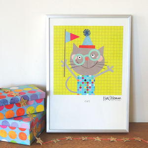 Cat In Specs Poster Print - nursery pictures & prints