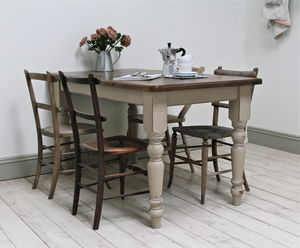 Distressed Pine Painted Kitchen Table - furniture