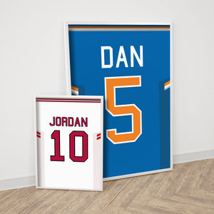 Personalised Basketball Shirt Print - gifts for him