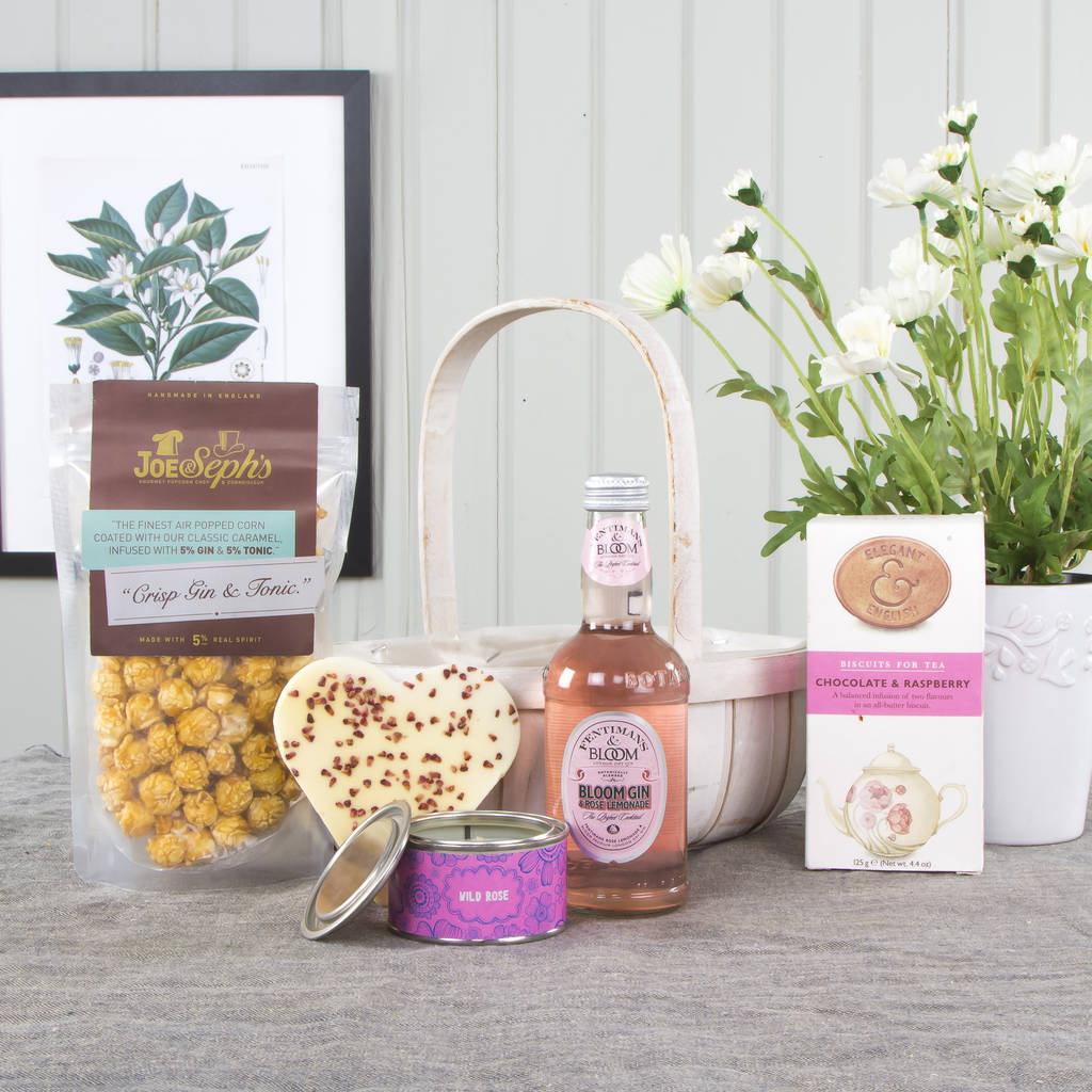 Gin And Sweet Treats Trug Hamper