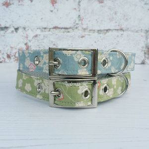 Dog Collar Traditional Buckle Japanese Garden