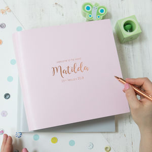 Leather Bound Baby's First Year Book - photo albums