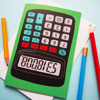 Funny Rude Calculator Greeting Card