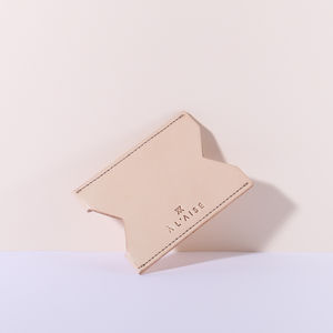 Single Card Case, Natural - fashion accessories