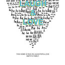 Personalised Laugh And Love Print