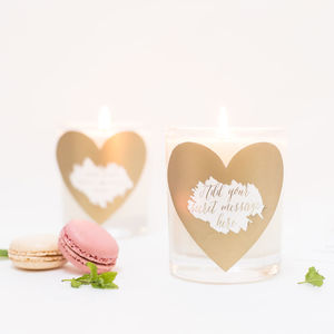 Secret Message Scratch Heart Candle