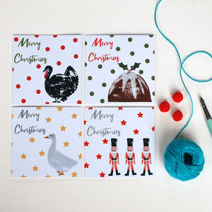 Pack Of Eight 'Merry Christmas' Cards