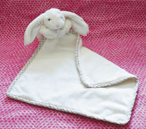 Cream Toy Bunny Baby Soother/Comforter