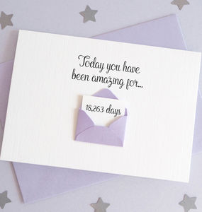 Personalised Envelope Days You've Been Amazing Card - what's new
