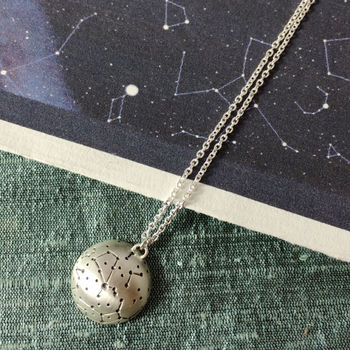 Personalised Silver Starscape Necklace