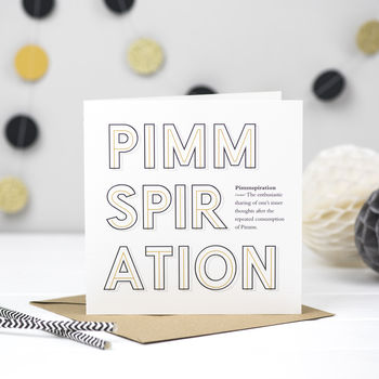 'Pimmspiration' Pimms Card