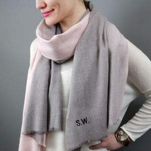 Personalised Cashmere Blend Ombre Scarf - gifts for mothers
