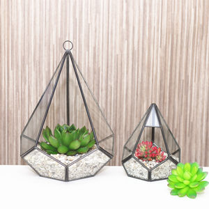 Geometric Diamond Glass Terrarium - terrariums