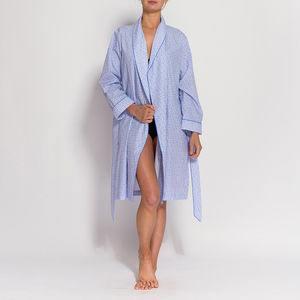 Women's White Paisley Mid Length Robe - new in fashion