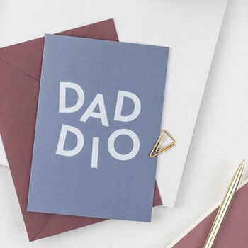 'Daddio' Funny Father's Day Card For Dad