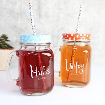 Hubs And Wifey Mason Jars