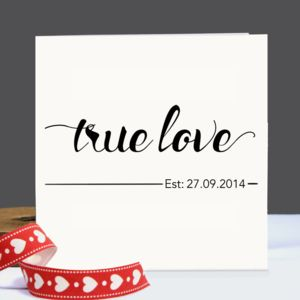 Personalised 'True Love' Card - wedding cards & wrap