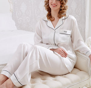 Personalised Coco Silk Pyjamas - bridal lingerie & nightwear