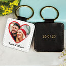 Couples Personalised Photo Keyring