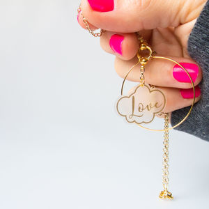 Dreaming Of Love Hoop Necklace