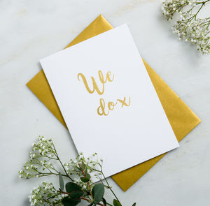 'We Do' Wedding Card