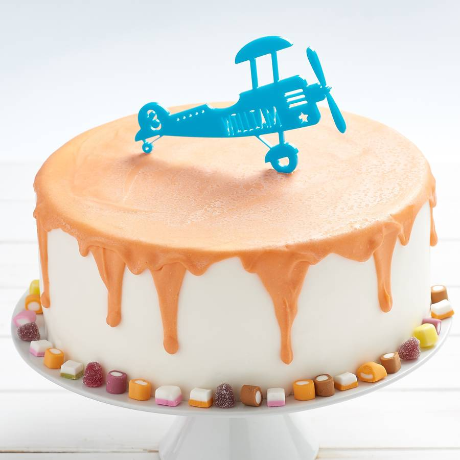 Personalised Airplane Cake Toppers