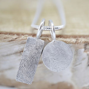 Mini Fingerprint Charm - necklaces & pendants