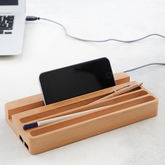 Personalised Wooden Desktop Charging Station - stationery