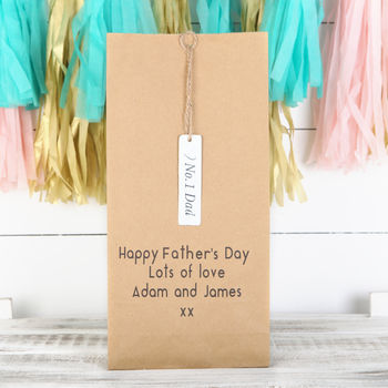 Personalised Number One Dad Gift Bag