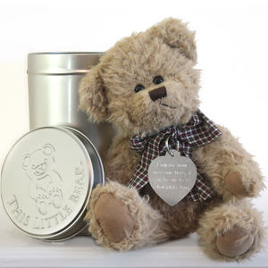 Personalised Teddy In A Tin - new baby gifts