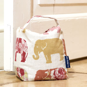 Nelly Elephant Fabric Bean Bag Door Stop - decorative accessories