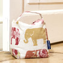 Fabric Wheat Filled Door Stop In Nelly Elephant