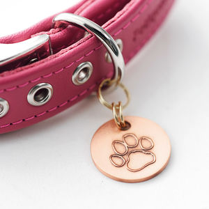 Personalised Antique Copper Pet Tag - clothes