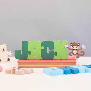 Personalised Wooden Name Jigsaw - keepsakes