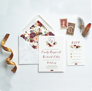 Elizabeth Wedding Invitation - save the date cards