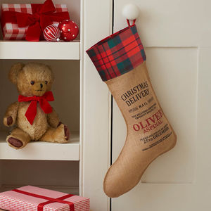Personalised Piccadilly Christmas Stocking - stockings & sacks