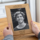 Personalised 21st Birthday Solid Oak Picture Frame