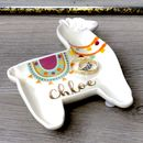 Personalised Llama Shaped Trinket Dish