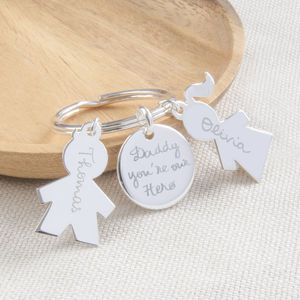 Personalised Person Key Ring - keyrings