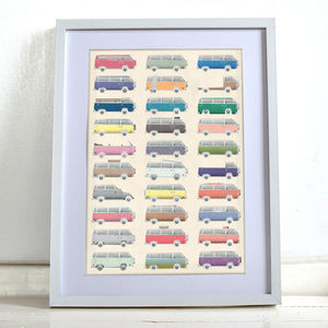 Vw Camper Van Poster Wall Art Print Home Décor