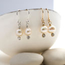 Petite Pearl And Crystal Drop Earring