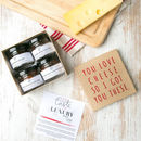 Personalised Wedding Cheese Board Set 'Heart And Arrow'