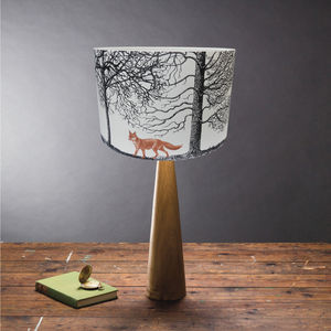 'Into The Woods' Fox Lampshade - bedroom
