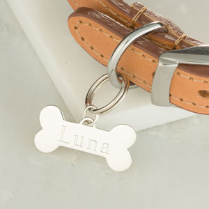 Sterling Silver Personalised Bone Tag