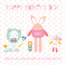 Personalised Happy Mother's Day Character Card