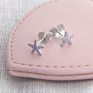 Girl's Tiny Sterling Silver Starfish Earrings - earrings